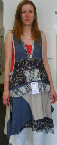 pinafore blue, full front  modelled b