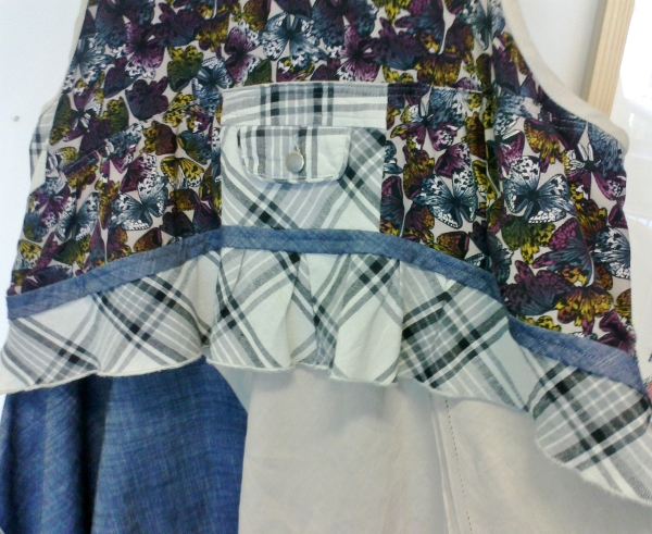 pinafore butterflies, checked pocket centrepiece b