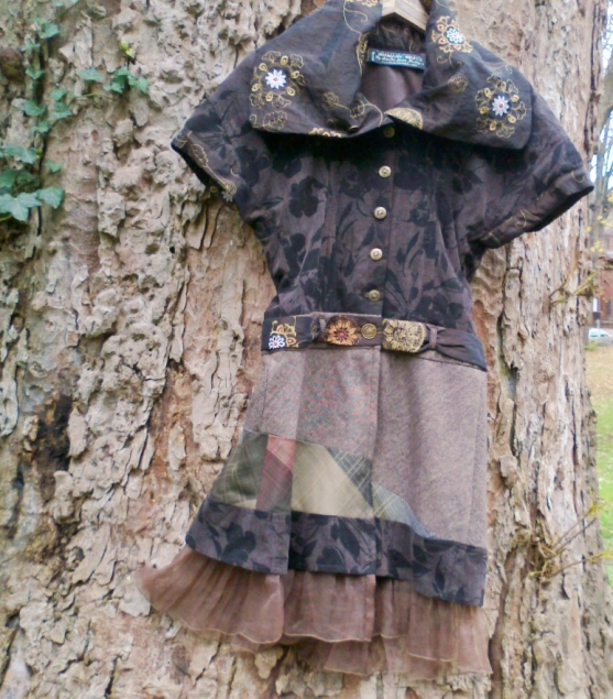 brown jerkin dress tree - Ethical Fashion