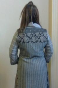 Model in Grey Coat Dress - Ethical Fashion