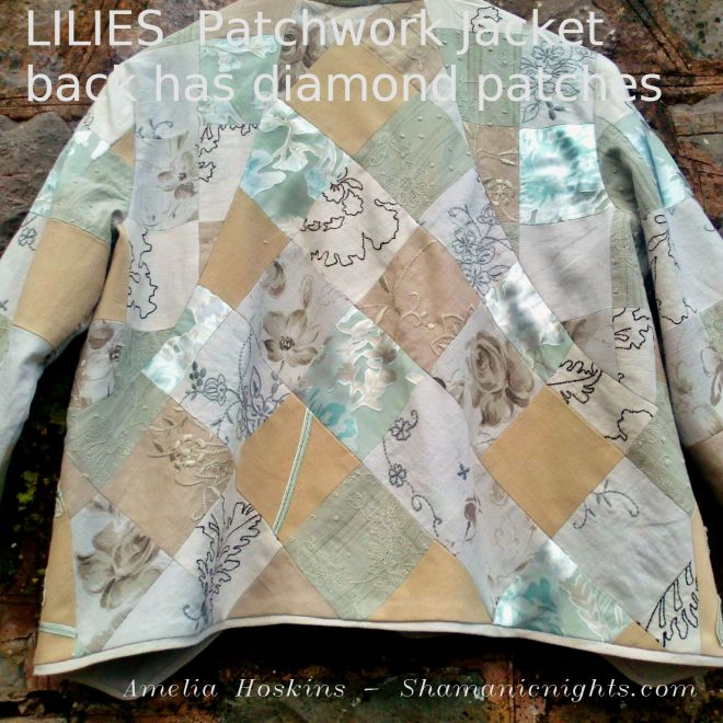 Back view of Lilies Jacket