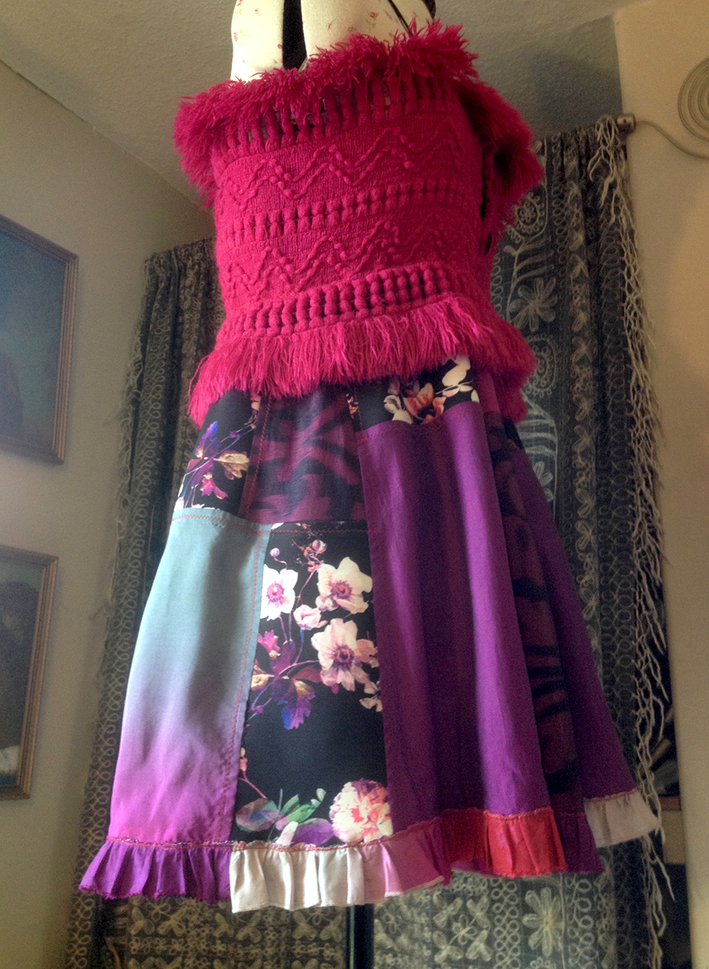 Cherry B, RIGHT side view, with hem frill, indoors, right side view.png
