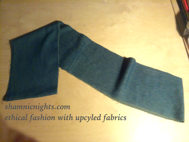 Upcycle G green dress, 4 piece hem addition, joined, sloping sides - 001 - annotated - scaled650