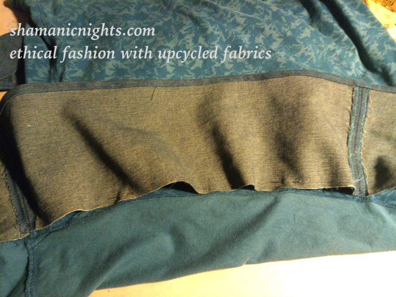 Upcycle J green dress position hem equally in quarters - 001 - annotated - scaled800