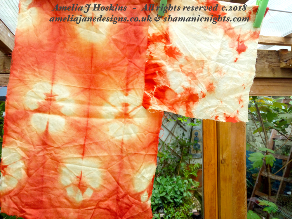 Samples Madder fold & crunch dyed 2018-05-01 - 002 - edited annotated