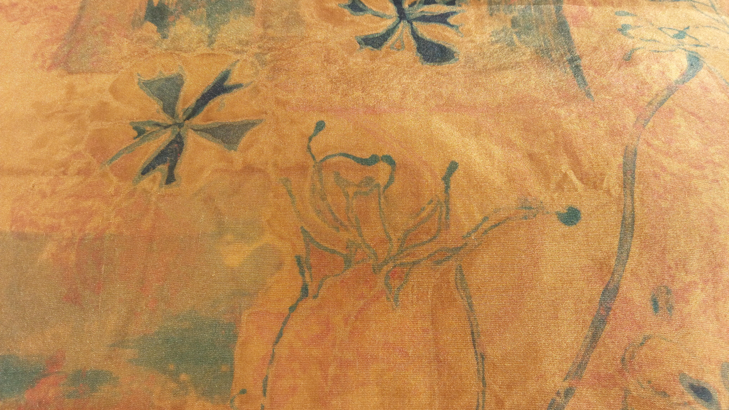 Eucalyptus dyed silk, close up painting 2018-10-20 13.24.49