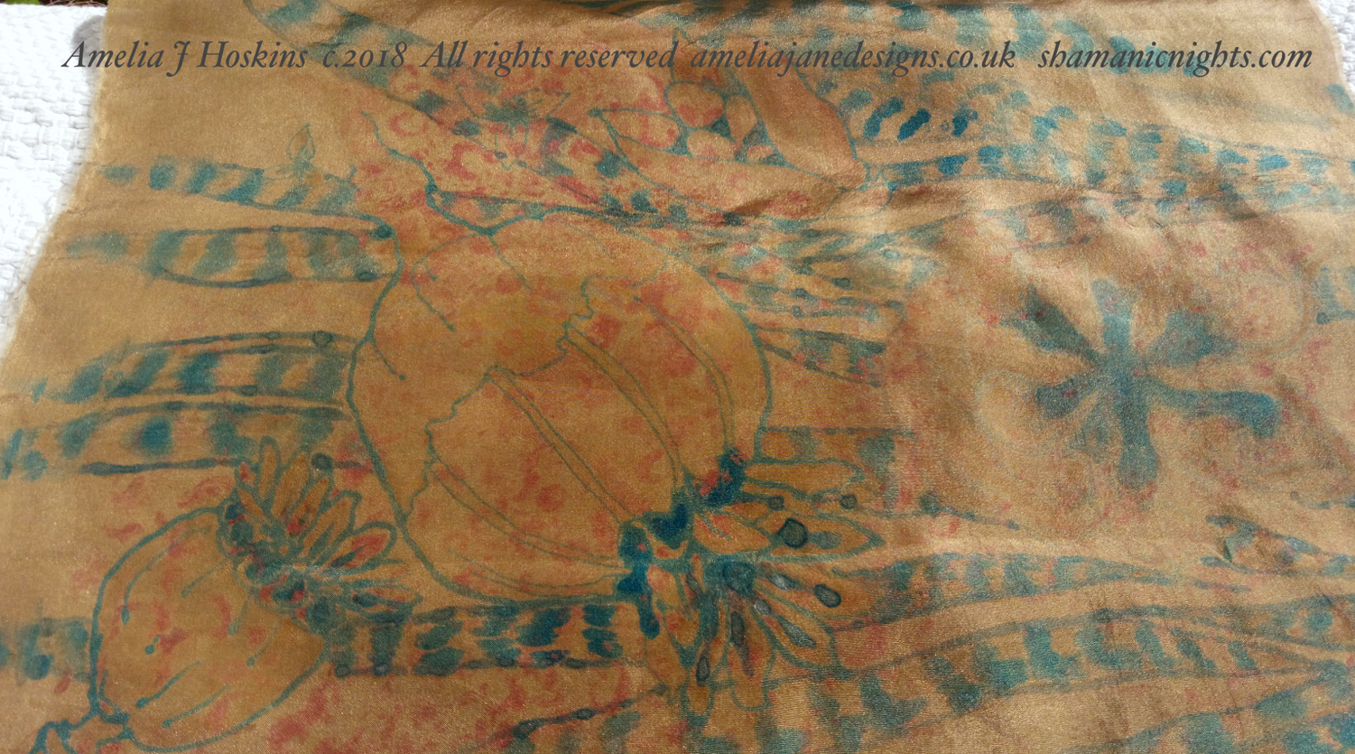 Eucalyptus dyed silk painting poppy seed close stage one 2018-10-20 13.25.14 - 002 edited annotated